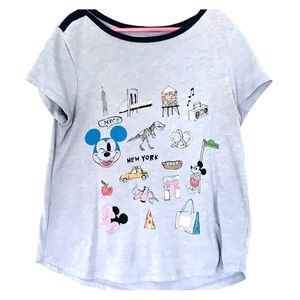 Blue Mickey Mouse New York shirt